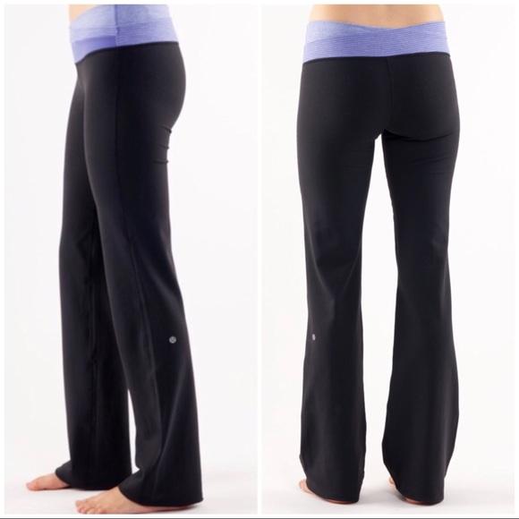 bbde3489da lululemon athletica Pants - LULULEMON Astro Black Flare Yoga Pant 6 Tall